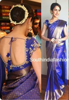 Sari Blouse Designs, Designer Blouse Patterns, Banarsi Saree, Saree Hairstyles, Saree Dress, Saree Blouse, Simple Sarees, Saree Styles, Beautiful Saree