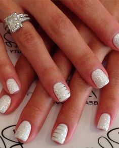 Adorable nail art Noel facile manicure Noel