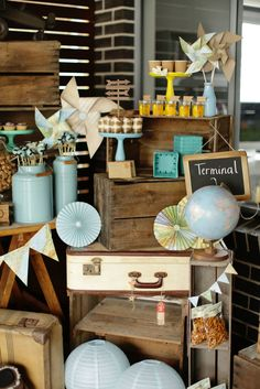 New Travel themed Party Centerpieces