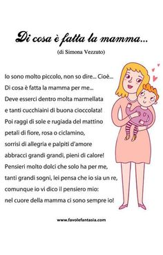 "Filastrocca ""Di cosa è fatta la mamma..."" di Simona Vezzuto Mothers Day Quotes, Mom Quotes, Brick Crafts, Italian Grammar, I Love My Son, Learning Italian, Good Jokes, Thing 1, Reading Material"
