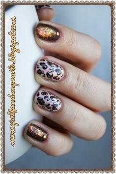 me, myself and my nails: Projekt NAILART - Tydzień 2. Mrrrauuu (animal print)