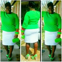 Spike clutch Green clutch with spikes on front not on back Bags Clutches & Wristlets