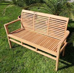 Design Gartenbank Holz 3 Sitzer