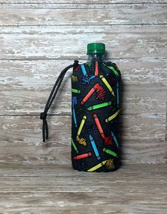 Crayon Insulated Water Bottle Holder / Crayon Water Bottle Sleeve / Water Bottle…