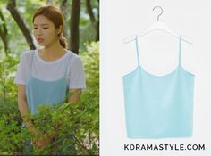 Bride of the Water God Episode Yoon So Ah's Light Blue Tank Top - KdramaStyle Bride Of The Water God, Shin Se Kyung, Business Casual Attire, Korean Celebrities, Korean Outfits, Korean Actresses, College Girls, Powerpuff Girls, Korean Style