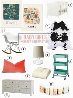 urban nester: baby girls nursery inspiration by cynthia