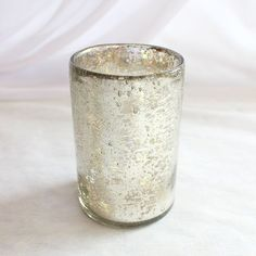 Silver Mercury Glass Cup For Floral Vase or Pillar Holder| Wedding Centerpieces | Hassle Free Shipping