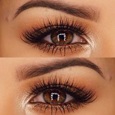 Neutral Eye Shadow with Long Curly Lashes