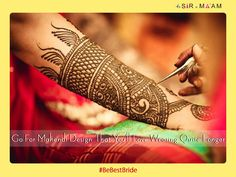 TIP3. If you are going to adorn your hands, don't just pick from random mehendi design. Go for something that you're comfortable wearing for quite longer. #BeBestBride  #Wedding #Bride #Mehendi #WeddingSeason