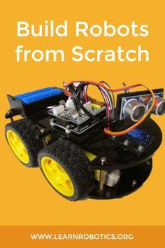 Robotics Books, Learn Robotics, Robotics Projects, Arduino Projects, Diy Projects, Build A Robot, Mobile Robot, Robot Kits