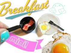 DIY Miniature frying pan and egg | Dollhouse crafts - YouTube