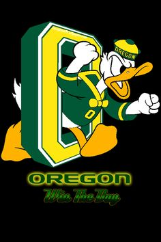 Oregon Ducks, Walt Disney's nieces went  to UofO - he gave permission to use Donald Duck as a template