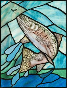 Awesome stained glass trout by Phil Godenschwager #fishfx