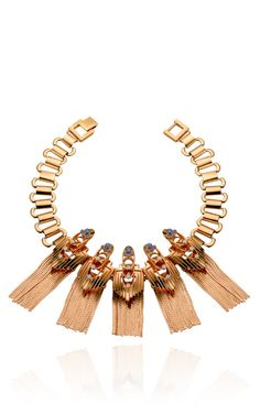 DESIGNER: MAWI  SEE DETAILS HERE: Rose Gold Plated Flapper Fringe Necklace