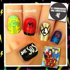5 Seconds of Summer Nails #5sos