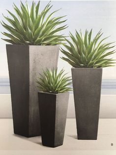 Unique Modern Precast Planters To Make Your Outdoors Stylish So accessories such as modern outdoor planters are starting to gain popularity, their designs being more interesting and innovative than ever. Patio Planters, Concrete Planters, Flower Planters, Flower Pots, Modern Planters, Black Planters, Large Outdoor Planters, Planter Garden, House Plants Decor