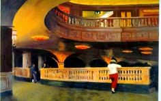 The Sheridan Theatre by Edward Hopper, oil on canvas, 1937 Edward Hopper, Morning Sun, Cape Code, Social Realism, Social Aspects, Expositions, The Kingdom Of God, Illustrations, Buy Prints
