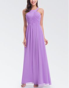 Find custom halter sleeveless floor length chiffon bridesmaid dresses, bridesmaid dresses, wedding party dresses at discount prices