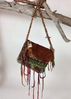 Sonoma Hand woven Art Purse | lunaazulstudio - Fiber Arts on ArtFire