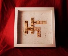 Personalised Scrabble Art Name Frame. Perfect gift. by AbStyleArt