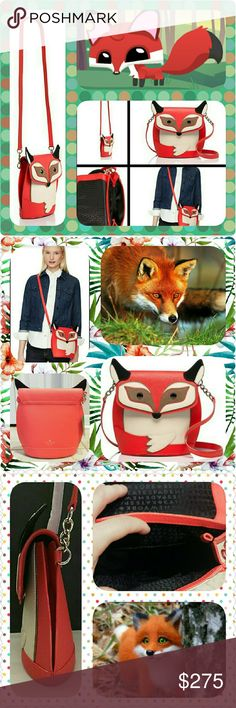 """Kate Spade """"Trail d'Blaze Fox"""" Crossbody Conversation chic KS fox crossbody. Wear this & have a wonderful adventure full of excitement! More details on 4th frame. Kate Spade Bags Crossbody Bags"""