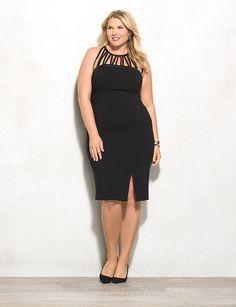 $39.60-- BEYOND by Ashley Graham Plus Size Cutout Halter Dress