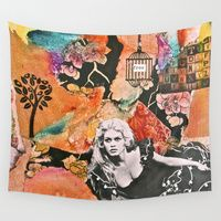 Wall Tapestry featuring Free Spirit (V.2)  by LadyJennD