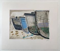 Intaglio print on Zerkall paper. Recently published by Stoney Road Press in April 2019 and launched at the London Original Print Fair. Barbara Rae, Old Boats, Fishing Boats, Artsy, Fine Art Prints, Product Launch, Artwork, London, Paper