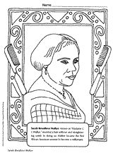 Black History Month coloring book page of African-American ...