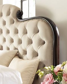Shop Everly Upholstered & Tufted King Bed from caracole at Horchow, where you'll find new lower shipping on hundreds of home furnishings and gifts. Mirrored Nightstand, Dresser With Mirror, King Beds, Queen Beds, Dark Wood Dresser, Wood And Upholstered Bed, Dressing Table Storage, Bed Price, Attic Bedrooms