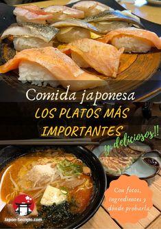 Los más platos que más se comen en Japón, con fotografías, ingredientes y lugares de Japón en los que probarlos Carne Asada, Pot Roast, Ethnic Recipes, Food, Traveling, Food Recipes, Places, Roast Beef, Roast Beef