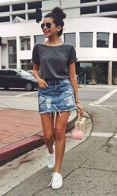 34 The Best Ideas To Pair Mini Skirt Outfit For Summer