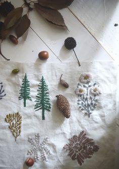 樋口さんがモチーフにするのは、主に草花や虫、動物など。いつも世界のどこかにある自然なかわいらしさが、作品には詰まっているんです。
