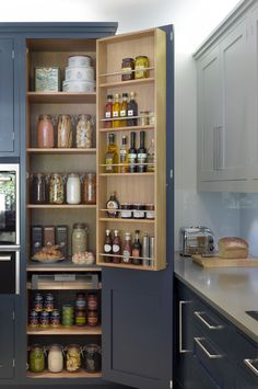 23 Super Ideas For Kitchen Pantry Cabinet Standalone Larder Cupboard Kitchen Larder, Larder Cupboard, Kitchen Pantry Cabinets, Kitchen Storage, Door Storage, Mini Kitchen, Cupboard Ideas, Smart Kitchen, Storage Room