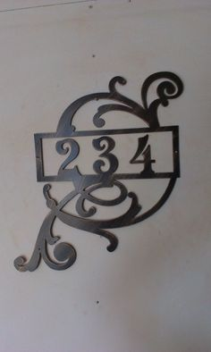 Address Street House 5 Vintage-Style Cast Iron Decorative Scroll NUMBER FIVE