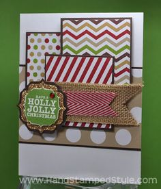 Stampin' Up! Holly Jolly Tags 4 You Card created by Hand Stamped Style, THANKS for checking out my PIN for more info visit my BLOG and FACEBOOK PAGE, http://www.facebook.com/handstampedstyle