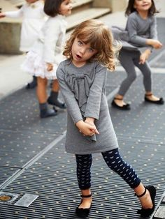 Fashion For Outfit - Info Little Girl Outfits, Little Girl Fashion, Toddler Fashion, Toddler Outfits, Kids Fashion, Fashion 2015, Street Fashion, Trendy Fashion, Girls Winter Fashion