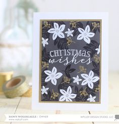 Stamp Away With Me: VIDEO: Black, White and Gold Be Merry Florals