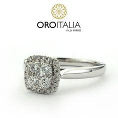Anillo de diamantes en oro blanco.  Para precios llámanos al 303-6625(Obarrio) o 303-6627 (Dorado) ref. 211526   #oroitalia #joyería #oro #gold #joyeríaspanamá #jewelry #panama #diamonds #diamantes #anillo #anillodiamantes #ring #diamonsdring