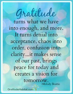 Gratitude brings peace. #gratitude-quote Visit: www.GratitudeHabitat.com