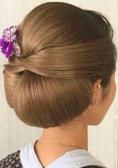 Low Bun Hairstyles, Elegant Hairstyles, Party Hairstyles, Wedding Hairstyles, Hair Upstyles, Hair Braider, Hair Arrange, Elegant Wedding Hair, Japanese Hairstyle