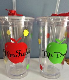 Personalilzed Teacher Tumblers by PersonalizedbyDawn on Etsy, $10.00