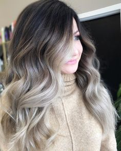 71 most popular ideas for blonde ombre hair color - Hairstyles Trends Ash Blonde Hair Balayage, Brown Ombre Hair, Ombre Hair Color, Blonde Ombre, Ash Ombre, Hair Dos, Hair Trends, Dyed Hair, Hair Inspiration