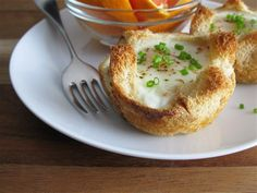 Baked Eggs in a basket  190C @ 14-18 mins
