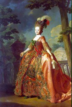 Empress Maria Feodorovna wife of Paul I Royal Art Russian modern postcard Maria Feodorovna, Rococo Fashion, Royal Art, 18th Century Costume, Historical Women, Historical Clothing, 18th Century Fashion, 17th Century, Classical Art