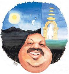 - A charge do cantorTim Maia, feita por Carlinhos em 2008, remete à capa do disco Racional de 1975