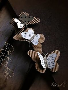 corrugated butterflies and jute wrapped in the middle and tied at the end for the antennas creative paper crafts Diy Paper, Paper Art, Paper Crafts, Diy Crafts, Crafts For Kids, Arts And Crafts, Butterfly Crafts, Butterfly Mobile, Candy Cards