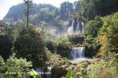 Thi Lo Su Waterfall (Namtok Thilawsu or Namtok Tee Lor Su)  Umphang Wildlife Sanctuary, Tak, Thailand