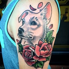 Nicholas Keiser (Second year tattooer) @ Integrity Tattoo, Royersford, PA. - nickeisertattoos@yahoo.com Dog Portrait