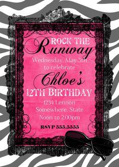Runway Fashion Show Party Invitations Feeling Crafty Pinterest